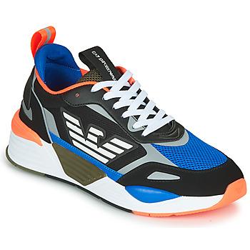 Παπούτσια Άνδρας Χαμηλά Sneakers Emporio Armani EA7 XK165 Black / Μπλέ / Orange