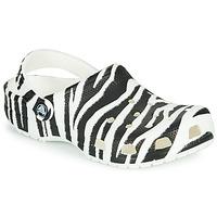 Παπούτσια Γυναίκα Σαμπό Crocs CLASSIC ANIMAL PRINT CLOG Ζέβρα