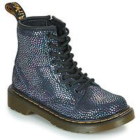 Παπούτσια Κορίτσι Μπότες Dr Martens 1460 J Black / Μεταλικό