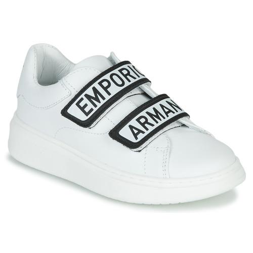 Παπούτσια Παιδί Χαμηλά Sneakers Emporio Armani XYX007-XCC70 Άσπρο / Black