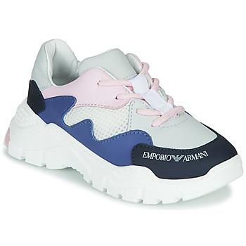 Παπούτσια Αγόρι Χαμηλά Sneakers Emporio Armani XYX008-XOI34 Άσπρο / Μπλέ