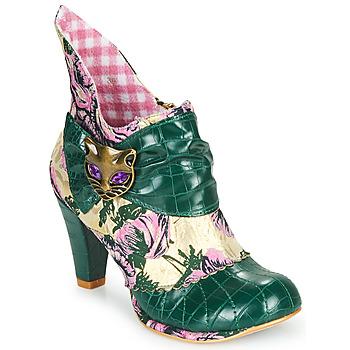 Παπούτσια Γυναίκα Μποτίνια Irregular Choice MIAOW Green