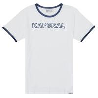 Υφασμάτινα Αγόρι T-shirt με κοντά μανίκια Kaporal ONYX Άσπρο