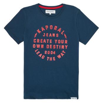 Υφασμάτινα Αγόρι T-shirt με κοντά μανίκια Kaporal ORVAL Marine