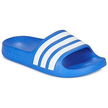 Παπούτσια Αγόρι σαγιονάρες adidas Performance ADILETTE AQUA K Μπλέ / Άσπρο