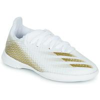 Παπούτσια Παιδί Ποδοσφαίρου adidas Performance X GHOSTED.3 IN J Άσπρο
