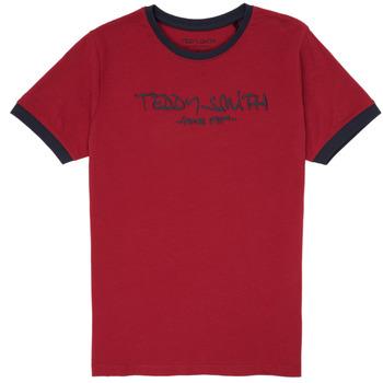 Υφασμάτινα Αγόρι T-shirt με κοντά μανίκια Teddy Smith TICLASS 3 Red