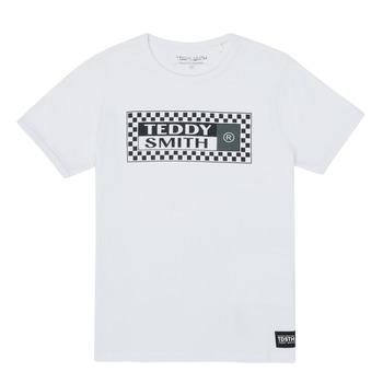Υφασμάτινα Αγόρι T-shirt με κοντά μανίκια Teddy Smith VANY Άσπρο