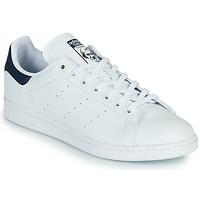 Παπούτσια Χαμηλά Sneakers adidas Originals STAN SMITH VEGAN Άσπρο / Μπλέ