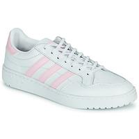 Παπούτσια Γυναίκα Χαμηλά Sneakers adidas Originals TEAM COURT W Άσπρο / Ροζ