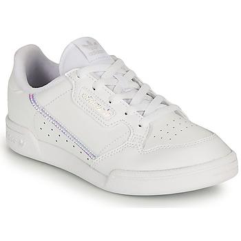 Παπούτσια Κορίτσι Χαμηλά Sneakers adidas Originals CONTINENTAL 80 C Άσπρο / Iridescent