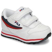 Παπούτσια Παιδί Χαμηλά Sneakers Fila ORBIT VELCRO INFANTS Άσπρο / Μπλέ