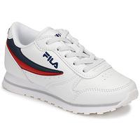 Παπούτσια Παιδί Χαμηλά Sneakers Fila ORBIT LOW KIDS Άσπρο / Μπλέ