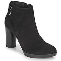 Παπούτσια Γυναίκα Μποτίνια Geox ANYLLA HIGH Black