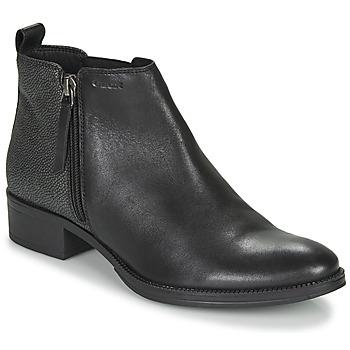 Παπούτσια Γυναίκα Μποτίνια Geox LACEYIN Black / Argenté