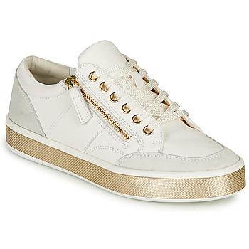 Παπούτσια Γυναίκα Χαμηλά Sneakers Geox LEELU Άσπρο