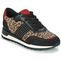 Παπούτσια Γυναίκα Χαμηλά Sneakers Geox TABELYA Leopard / Black