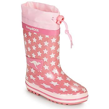 Παπούτσια Κορίτσι Μπότες βροχής Kangaroos K-RAIN Ροζ