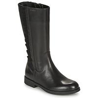 Παπούτσια Κορίτσι Μπότες για την πόλη Geox AGGATA Black