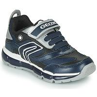 Παπούτσια Αγόρι Χαμηλά Sneakers Geox ANDROID Marine / Argenté