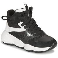 Παπούτσια Κορίτσι Ψηλά Sneakers Geox BUBBLEX Black / Άσπρο