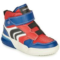 Παπούτσια Αγόρι Χαμηλά Sneakers Geox GRAYJAY Red / Μπλέ