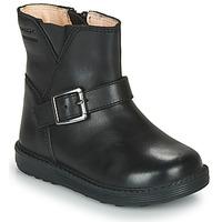 Παπούτσια Κορίτσι Μπότες για την πόλη Geox HYNDE WPF Black