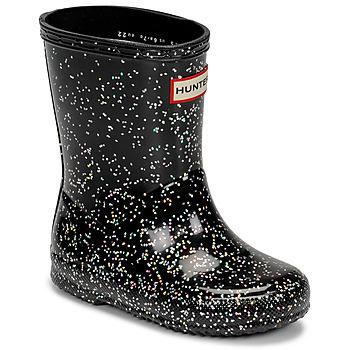 Παπούτσια Κορίτσι Μπότες βροχής Hunter KIDS FIRST CLASSIC GLITTER Black