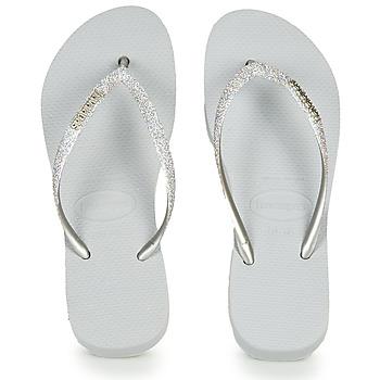 Παπούτσια Γυναίκα Σαγιονάρες Havaianas Slim Flatform Glitter Argenté