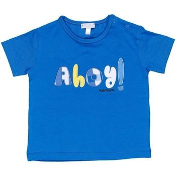 Υφασμάτινα Αγόρι T-shirt με κοντά μανίκια Nanan E20174 Avio