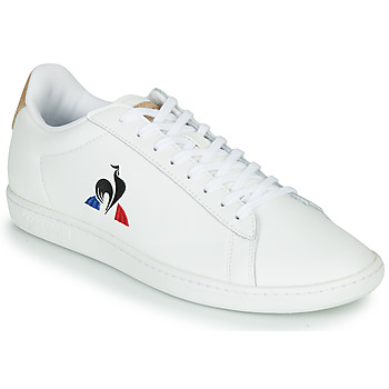 Παπούτσια Άνδρας Χαμηλά Sneakers Le Coq Sportif COURTSET Άσπρο / Cognac