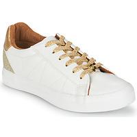 Παπούτσια Γυναίκα Χαμηλά Sneakers Le Temps des Cerises VIC Άσπρο / Gold