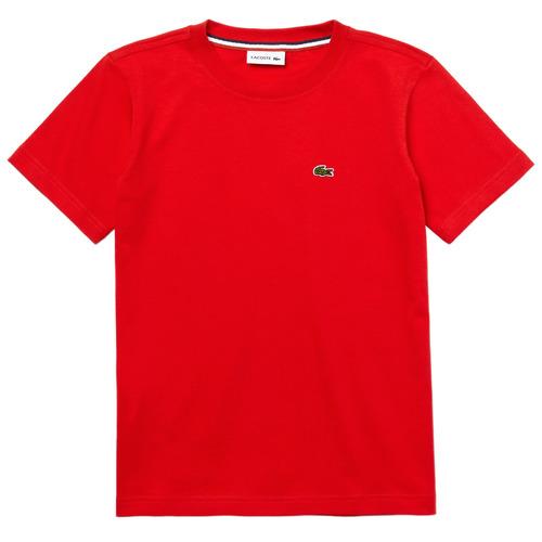 Υφασμάτινα Αγόρι T-shirt με κοντά μανίκια Lacoste TJ1442-F8M-J Red