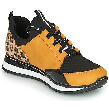 Παπούτσια Γυναίκα Χαμηλά Sneakers Rieker TENUA Cognac / Black
