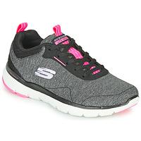 Παπούτσια Γυναίκα Fitness Skechers FLEX APPEAL 3.0 Grey / Black / Ροζ