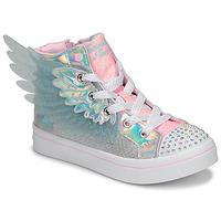 Παπούτσια Κορίτσι Ψηλά Sneakers Skechers TWI-LITES 2.0 Silver / Ροζ / Led