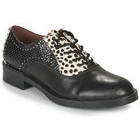 Παπούτσια Γυναίκα Derby Café Noir JEREL Black / Άσπρο