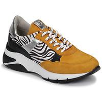 Παπούτσια Γυναίκα Χαμηλά Sneakers Tamaris ELLE Moutarde / Black / Ζέβρα