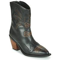 Παπούτσια Γυναίκα Μποτίνια Gioseppo SERAING Black / Brown