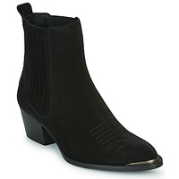 Παπούτσια Γυναίκα Μποτίνια Ikks TIAG SUEDE Black