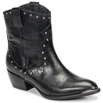 Παπούτσια Γυναίκα Μπότες για την πόλη Ikks BOTTES Black
