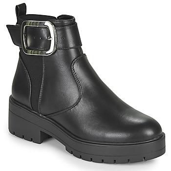 Παπούτσια Γυναίκα Μπότες Only BRANKA-5 PU BUCKLE BOOT Black
