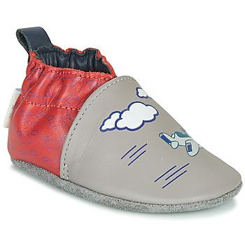 Παπούτσια Αγόρι Παντόφλες Robeez HAPPY WOLF Grey / Red