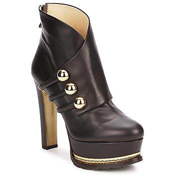 Παπούτσια Γυναίκα Μποτίνια Moschino MA2104 Dark / Καφέ
