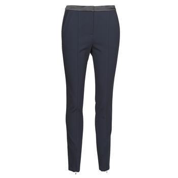 Υφασμάτινα Γυναίκα Παντελόνια Πεντάτσεπα Karl Lagerfeld PUNTO PANTS W/ LOGO TAPE Marine / Black