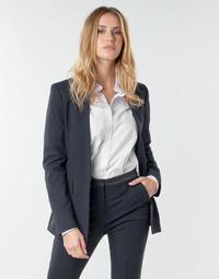 Υφασμάτινα Γυναίκα Σακάκι / Blazers Karl Lagerfeld PUNTO JACKET W/ SATIN LAPEL Marine / Black