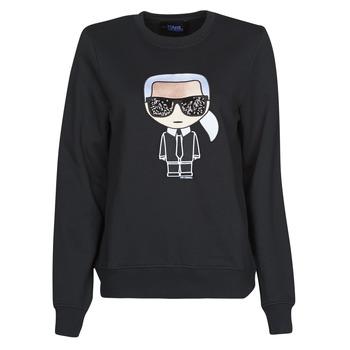 Υφασμάτινα Γυναίκα Φούτερ Karl Lagerfeld IKONIK KARL SWEATSHIRT Black