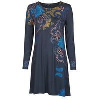 Υφασμάτινα Γυναίκα Κοντά Φορέματα Desigual WASHINTONG Μπλέ
