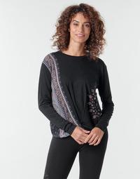Υφασμάτινα Γυναίκα Μπλουζάκια με μακριά μανίκια Desigual MARSELLA Marine