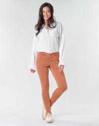 Υφασμάτινα Γυναίκα Παντελόνια Πεντάτσεπα Cream HOLLY CR TWILL Brown